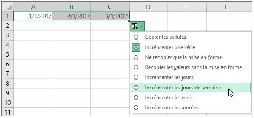 Créer des suites ou des séries sur Excel
