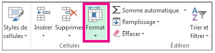 Modifier la taille des colonnes ou des lignes sur Excel