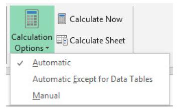 Calcul sur Excel