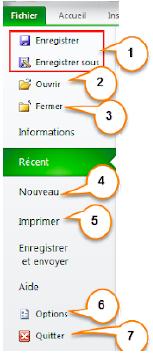 Le ruban et le lanceur de boite de dialogue sur Excel