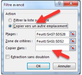 Les filtres avancés sur Excel