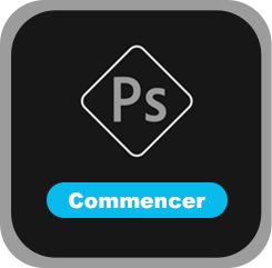 Tutos'me Formations Logo Photoshop Noir&Blanc